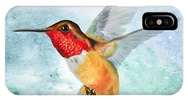 Da199 Rufous Humming Bird By Daniel Adams IPhone Case
