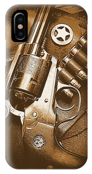 Ruger Super Blackhawk In Sepia 1 IPhone Case