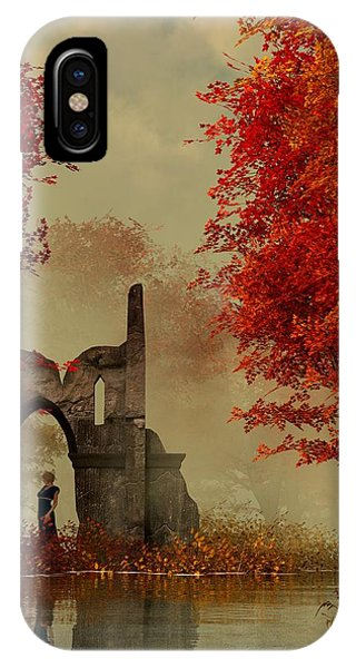 Ruins In Autumn Fog IPhone Case
