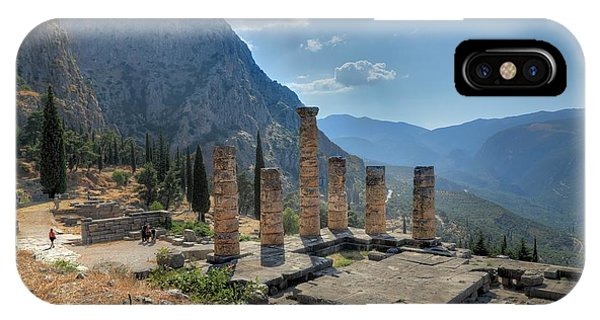 Ruins Of Apollos Temple And The Valley Of Phocis IPhone Case