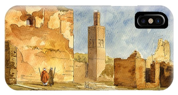 Ruin iPhone Case - Ruins Of Chellah  by Juan  Bosco