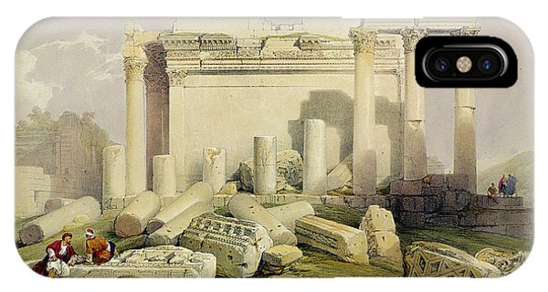 Columns iPhone Case - Ruins Of The Eastern Portico by David Roberts