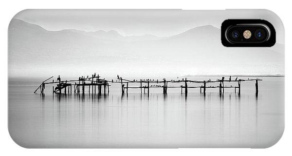Pier iPhone Case - Ruins With Birds II by George Digalakis