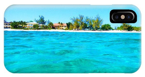 Jet Ski iPhone Case - Rum Point Swim by Carey Chen