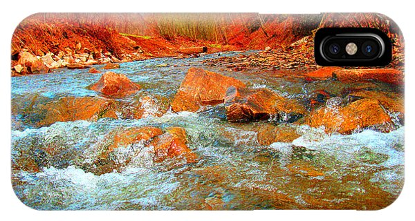 Running Creek 2 By Christopher Shellhammer IPhone Case