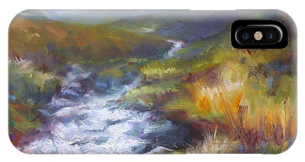 Running Down - Landscape View From Hatcher Pass IPhone Case