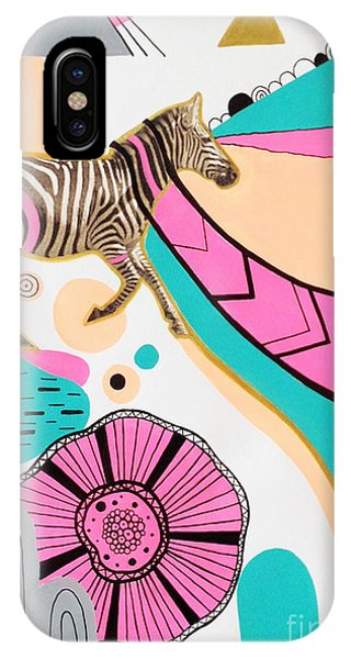 Zebra iPhone Case - Running High by Susan Claire