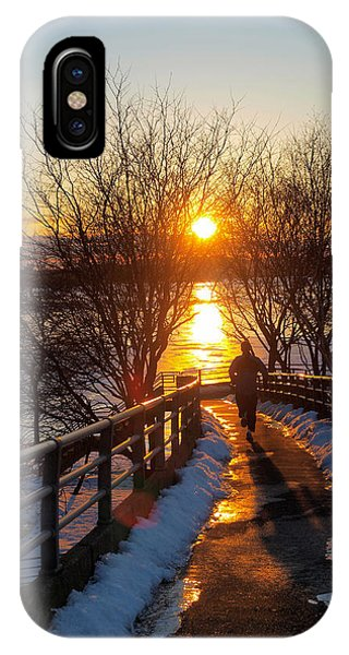 Running In Sunset IPhone Case
