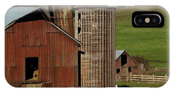Silos iPhone Case - Rural Barn by Bill Gallagher