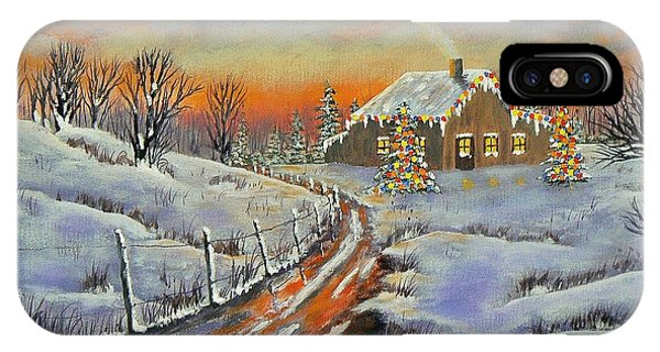 Rural Christmas IPhone Case