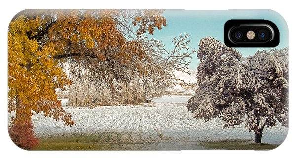 Rural Early Snow In Western Colorado  IPhone Case