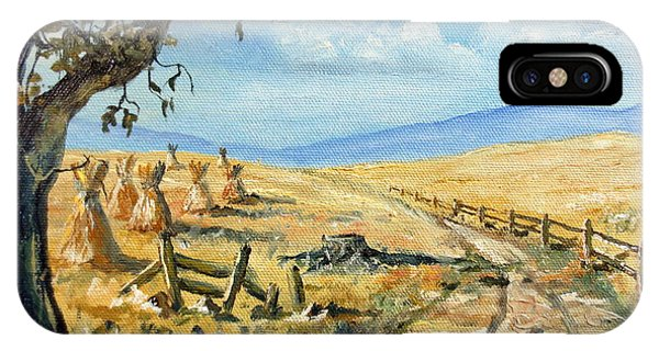 Rural Farmland Americana Folk Art Autumn Harvest Ranch IPhone Case