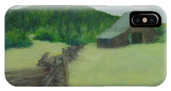 Rural Landscape Colorful Oil Painting Barn Fence IPhone Case