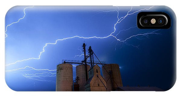 Rural Lightning Storm IPhone Case