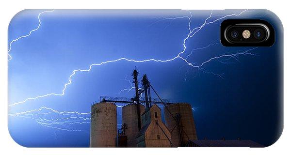 Rural Lightning Storm IPhone Case
