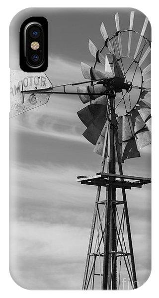 Rural Nebraska Windmill IPhone Case