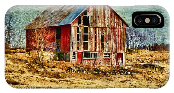 Rural Rustic Vermont Scene IPhone Case