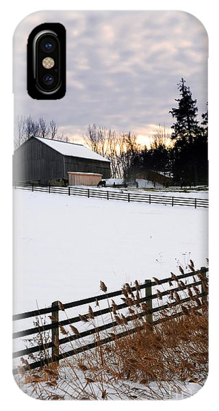 Sun Set iPhone Case - Rural Winter Landscape by Elena Elisseeva