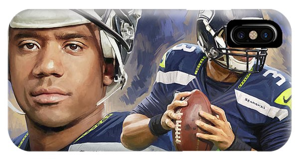 Russell Wilson Artwork IPhone Case