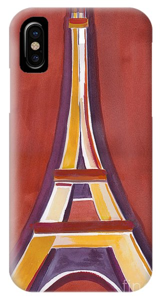 Rust Yellow Eiffel Tower IPhone Case