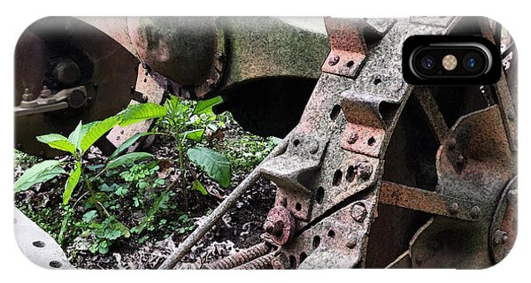Rusted Axle Planter IPhone Case