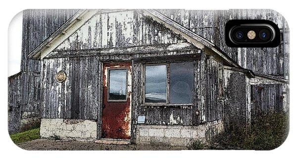 Rusted Farmhouse Door IPhone Case