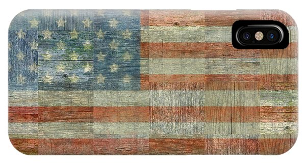 Rustic American Flag IPhone Case