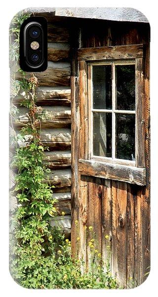 Rustic Cabin Window IPhone Case