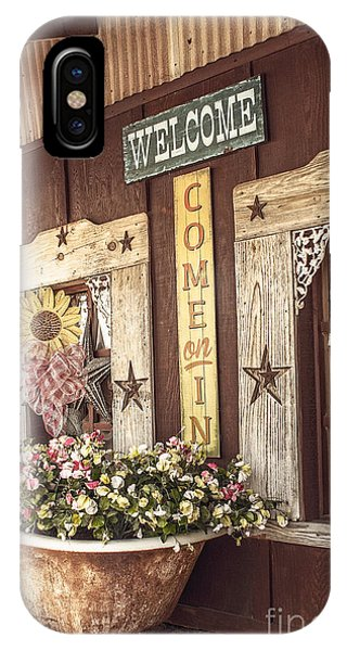 Rustic Country Welcome IPhone Case