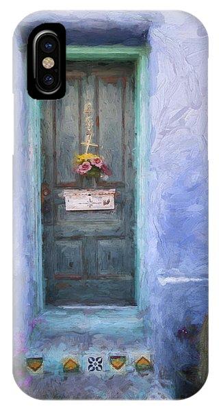 Rustic Door In Tucson Barrio Painterly Effect IPhone Case