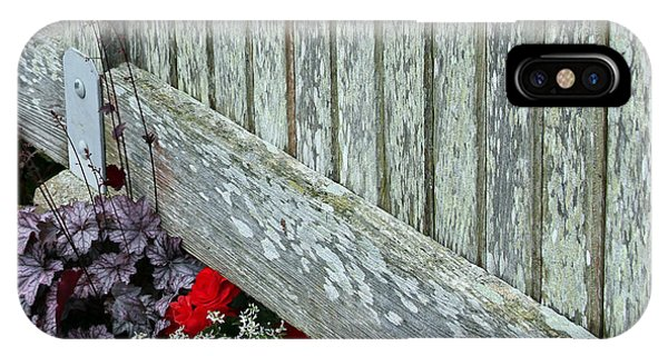 Rustic Fence And Flowers IPhone Case