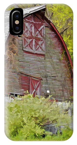 Rustic Red Barn II IPhone Case