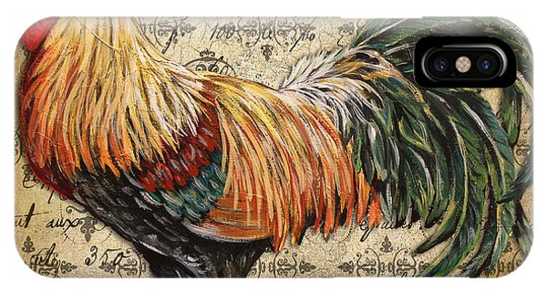 Rustic Rooster-jp2121 IPhone Case