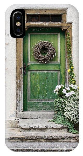 Rustic Wooden Village Door - Austria IPhone Case