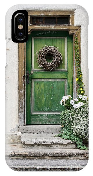 Rustic Wooden Village Door - Austria IPhone Case