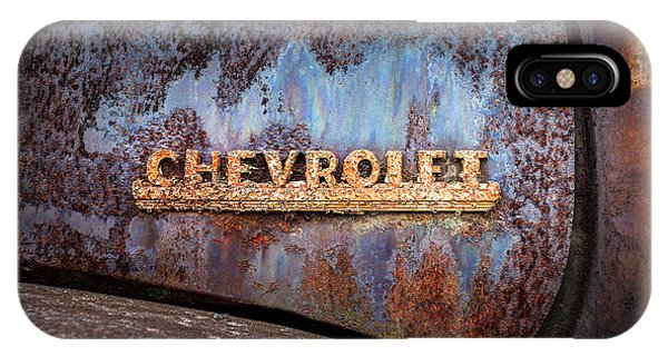 Rusty Chevrolet - Nameplate - Old Chevy Sign IPhone Case
