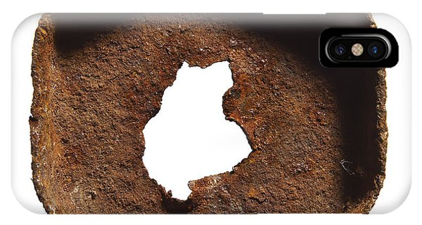 iPhone Case - Rusty Hexagon Part by Tony Cordoza