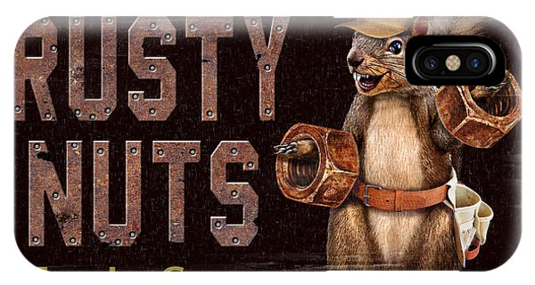 Man Cave iPhone Case - Rusty Nuts by JQ Licensing