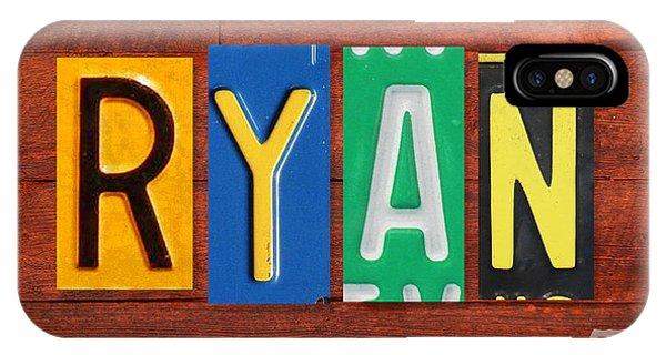 Ryan License Plate Name Sign Fun Kid Room Decor. IPhone Case