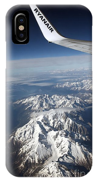 Ryanair Over The Alps Phone Case by Ros Drinkwater