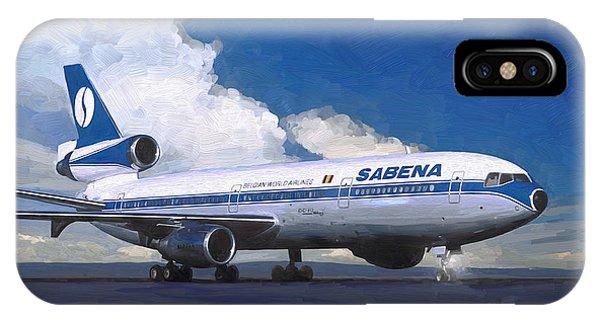 Sabena Dc-10 At Kinshasa IPhone Case