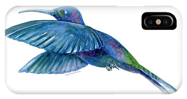 Bird Watercolor iPhone Case - Sabrewing Hummingbird by Amy Kirkpatrick