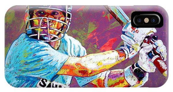 Cricket iPhone Case - Sachin Tendulkar by Maria Arango