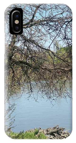 Fall At Sacramento River Scenic Photography IPhone Case