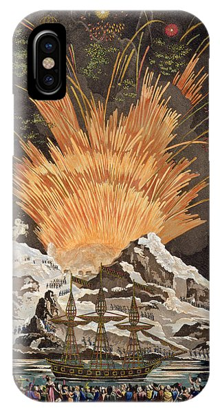 Fireworks iPhone Case - Sacred Festival And Coronation by Louis Le Coeur