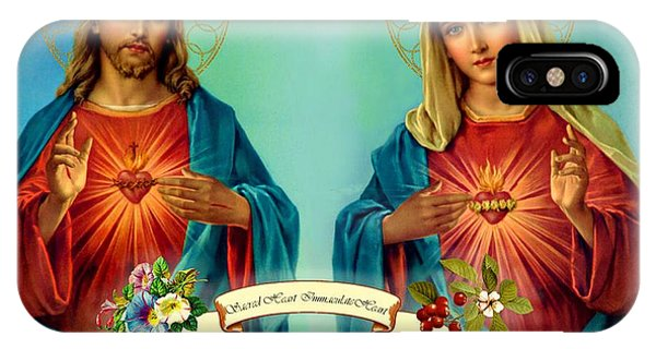Sacred Heart Immaculate Heart  IPhone Case