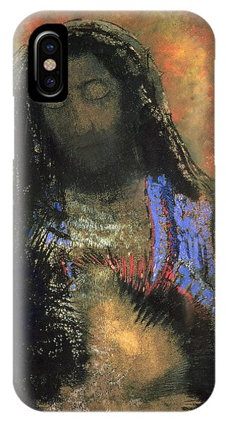 Messiah iPhone Case - Sacred Heart by Odilon Redon