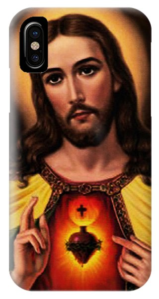 Sacred Heart Of Jesus Christ IPhone Case