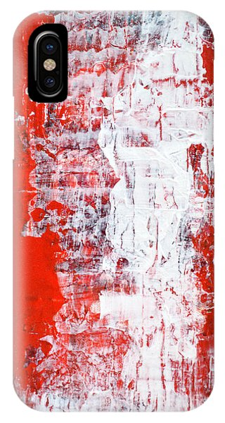 Sacrifice Red White Abstract By Chakramoon Phone Case by Belinda Capol