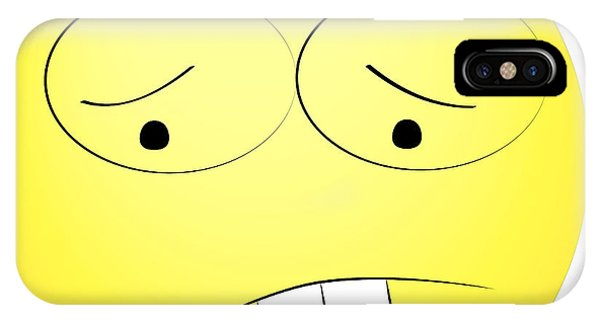 Cartoon iPhone Case - Sad Yellow Smiley by Matan Reichman